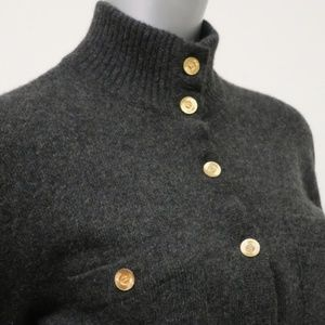 CHANEL Sweaters - Chanel Vintage Cashmere Cardigan CC Buttons Belted fcadcdd13